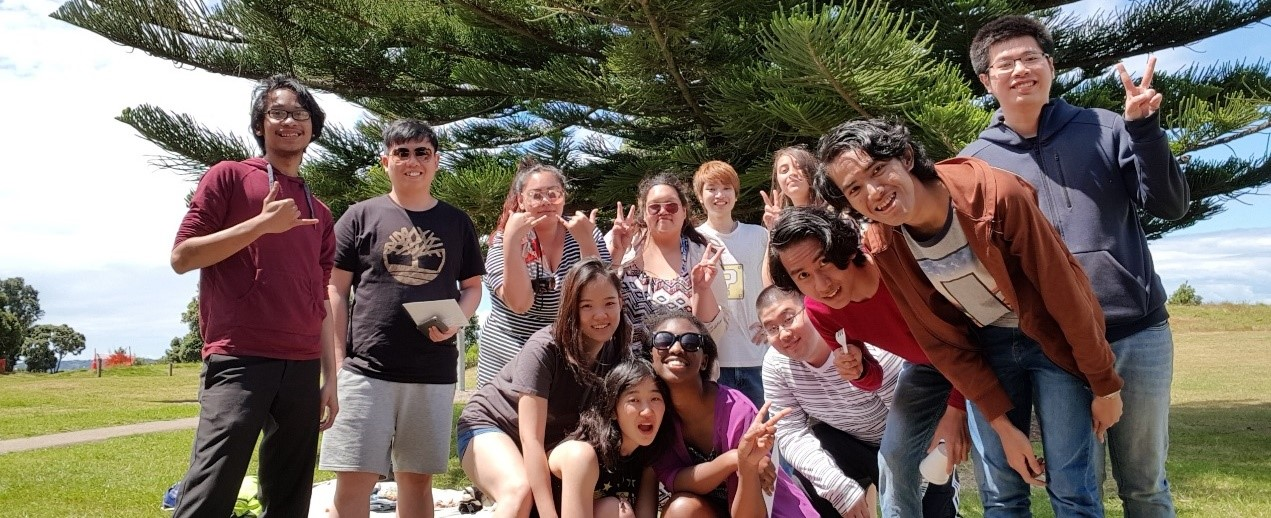 Japanese and Malaysian Clubs' beach trip